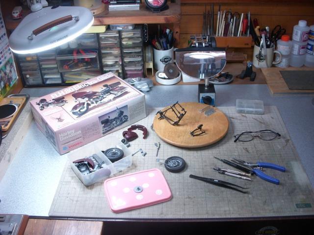 バイク模型製作記 / HarleyDavidson FLH80Electra-Glide (YODEL1/12)