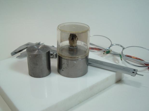 旋盤が使いたくて鉄で作ったアルコールランプ