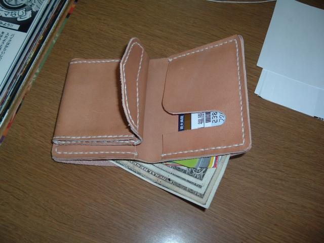 レザークラフト/超初心者がお財布の手作りに初挑戦(ショートウォレット)