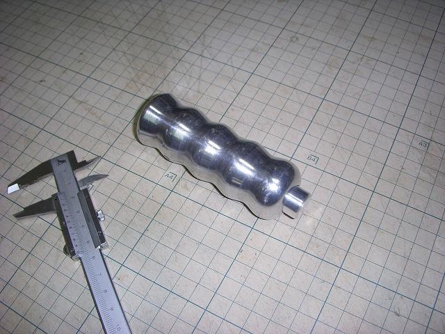 mini / サイドブレーキグリップのボタンをアルミ素材で自作してみた