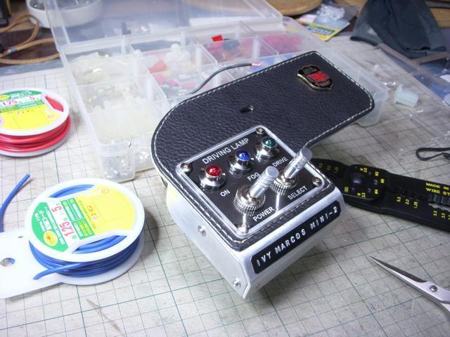 mini / フォグランプ切替用の室内スイッチパネルの製作