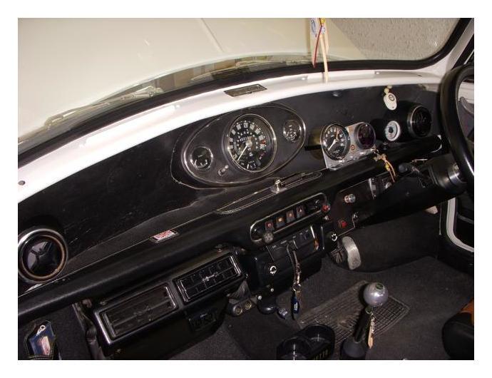 mini / センターメーター油圧計ライトの点灯不良&補修