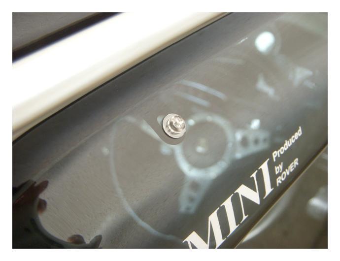 mini / サイドバイザーの固定ファスナー交換