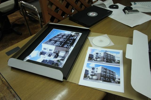 アパート完成記念写真(竣工写真)