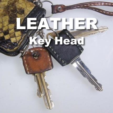革の切端と家庭の道具で小粋なレザーキーヘッドを作ってみよう
