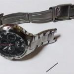 プレゼントでもらった大事な腕時計の電池交換とベルト修理♪